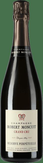 Image of Robert Moncuit Champagne Extra Brut Grand Cru Blanc de Blancs Reserve Perpetuelle Flaschengärung